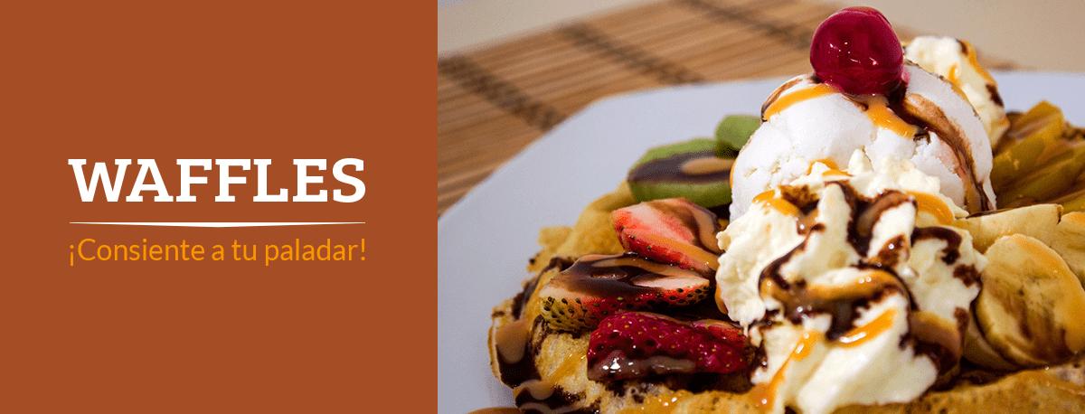 Imagen waffles - Dinays frutería y heladería en cali